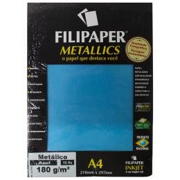 Papel Color Plus Metalizado 180G C/15 Folhas Filipaper